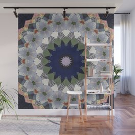 Patchwork Whimsy -- Vintage Block Quilt Mandala Kaleid0scope Wall Mural