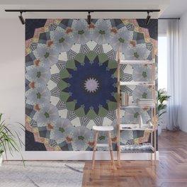 Patchwork Whimsy -- Vintage Block Quilt Mandala Kaleid0scope Wall Mural