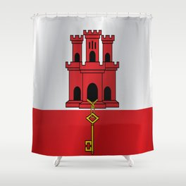 Flag of Gibraltar Shower Curtain