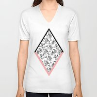 cage V-neck T-shirts featuring Bird Cage by Galvanise The Dog