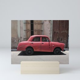 Cuban Red Car Mini Art Print