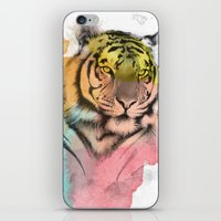 tiger iPhone & iPod Skins featuring tiger by mark ashkenazi