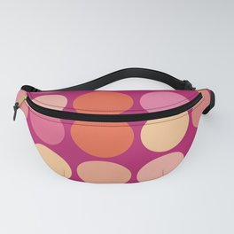 More Polk Dots on Plum Fanny Pack