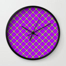 Square Pattern 2 Wall Clock