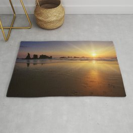 Sunset over the Pacific  Rug