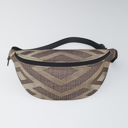 Ethnic Geometric Wooden texture pattern Fanny Pack