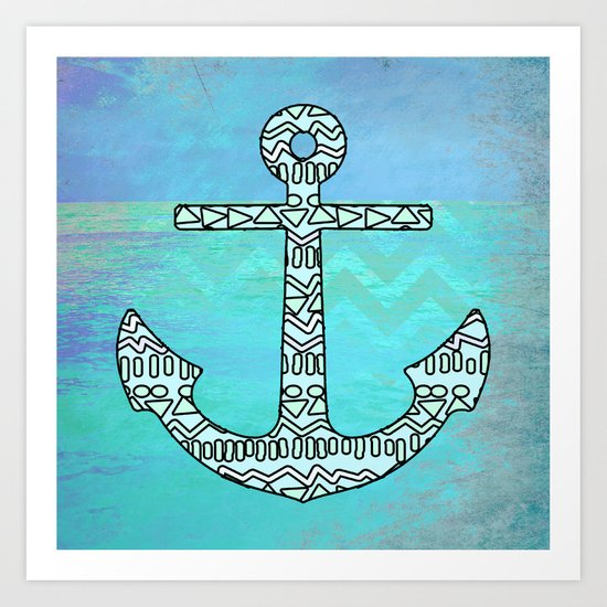Tribal Anchor Art Print