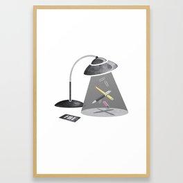 Desktop Abduction Framed Art Print
