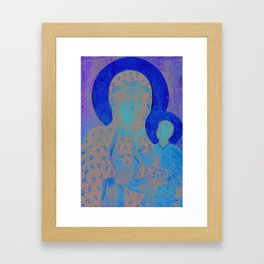 Virgin Mary Our Lady of Czestochowa Madonna and Child Jesus Religion Christmas Gift Framed Art Print