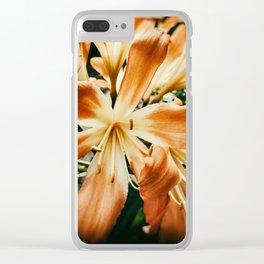 Orange Crush Clear iPhone Case