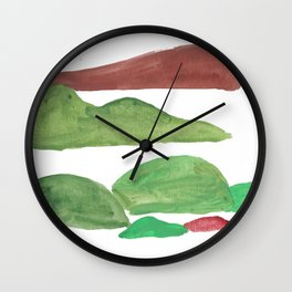 4    | Mountain Watercolour Painting  | 190402 Wall Clock