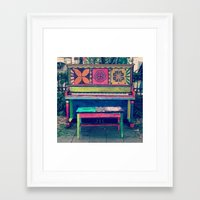 funky Framed Art Prints featuring Funky by Annie Langseth