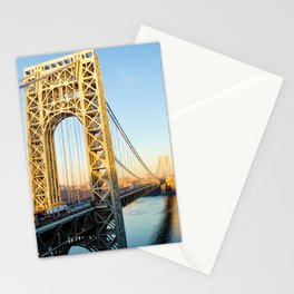 George Washington Bridge Sunset Stationery Cards