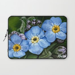 Do not forget me - azorean flora Laptop Sleeve