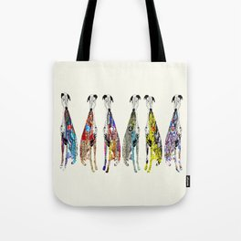 greyhound racers Tote Bag