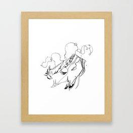 Powder + Pillows Framed Art Print