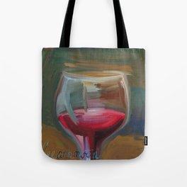 Wine Glass Tote Bag