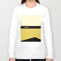 picard Long Sleeve T-shirts featuring Data - Minimalist Star Trek TNG The Next Generation - Enterprise 1701 D - startrek - Trektangles by Trektangles
