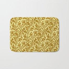 William Morris Thistle Damask in Mustard Gold Bath Mat