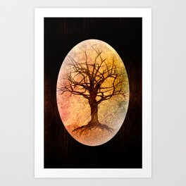 Amber Tree of Life Art Print