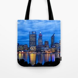 City Blues, Perth City, Western Australia Photographic Art Tote Bag