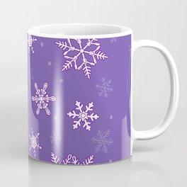 snowflakes on the blue Coffee Mug