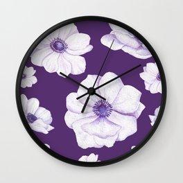 Anemones 2 Purple #society6 #buyart Wall Clock