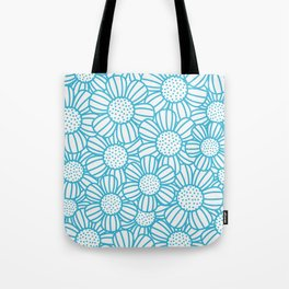 Field of daisies - teal Tote Bag