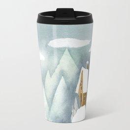 Winter in the Alpes Travel Mug