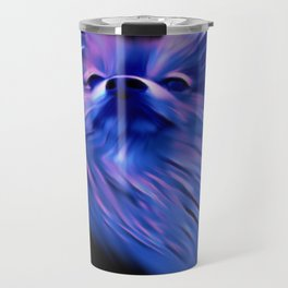 Purple Pomeranian Travel Mug