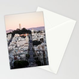 Coit Tower at Twilight Stationery Cards