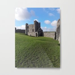Llansteffan Castle - Carmarthenshire, Wales - Series Metal Print