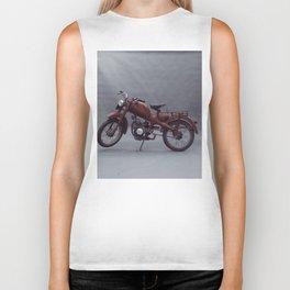 Old motorcycle photography, old motorbike, man cave sign, garage wall art Biker Tank