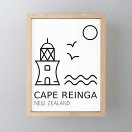 Cape Reinga New Zealand Framed Mini Art Print