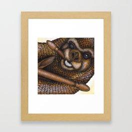 The Drumming Otter Part 1 Framed Art Print