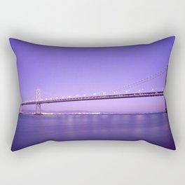 San Francisco - Oakland Bay Bridge at Night Rectangular Pillow