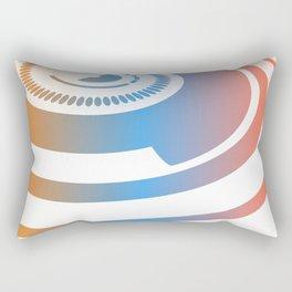 ORANGE AND BLUE Abstract Art Rectangular Pillow