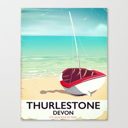 Thurlestone Devon rail poster Canvas Print