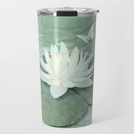 Zen Lotus and Butterfly Travel Mug
