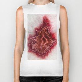 Earth teasures - Bloody red agate pattern Biker Tank