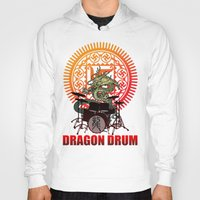 drum Hoodies featuring Dragon drum by kuuma