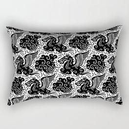 Pegasus Pattern Black and White Rectangular Pillow