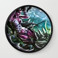 warcraft Wall Clocks featuring Apocalypse by Steuer Catherine