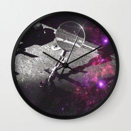 The Observer (Purple Space Edit) Wall Clock