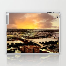 Downtown Portland Oregon Bridge View Laptop & iPad Skin