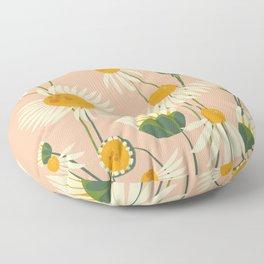 Cute Chamomile Peach Floor Pillow