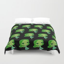 Disgust Pose Duvet Cover