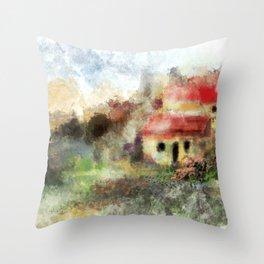 Old Spanish Village Throw Pillow