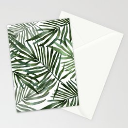 Watercolor simple leaves Stationery Cards