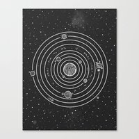 solar system Canvas Prints featuring SOLAR SYSTEM by Mírë